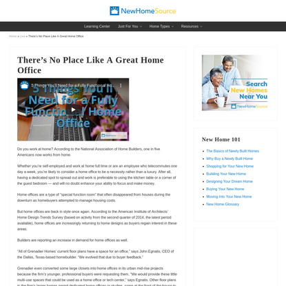 There's No Place Like A Great Home Office - NewHomeSource