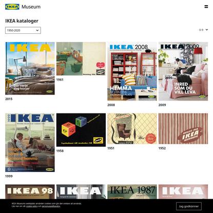 Svenska IKEA kataloger   IKEA Museum