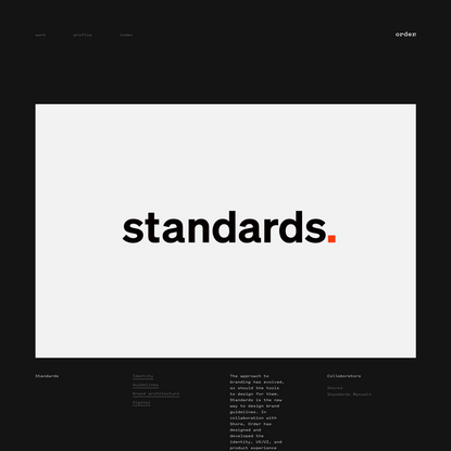 Order - Standards