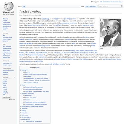 Arnold Schoenberg - Wikipedia