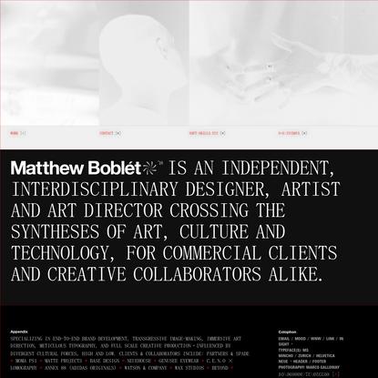 Matthew Boblet ◎ ROTCERID TRA ◎ RENGISED ◎ ZYX.SLLIKS-TFOS
