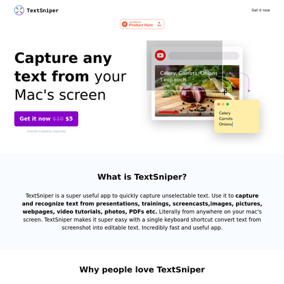 TextSniper - Capture any text from your Mac's screen