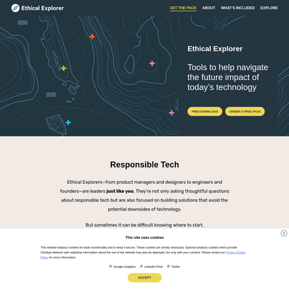 Ethical Explorer Pack - Tools to help manage the future impact of today's tech