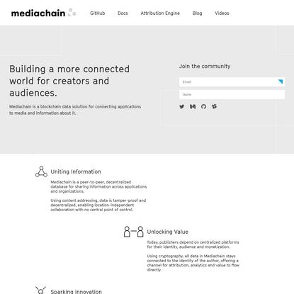 Mediachain