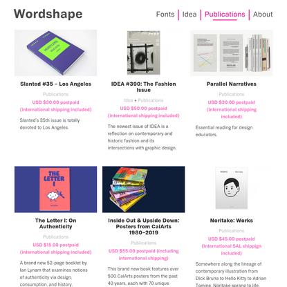 Wordshape | Publications