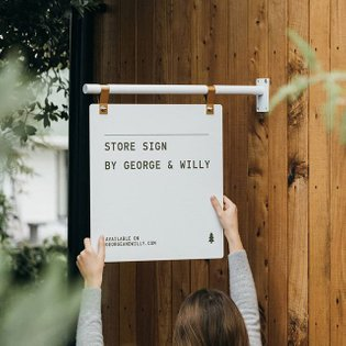 Introducing our BRAND NEW Store Sign. Minimal and beautiful, the Store Sign was carefully designed to make your business sta...