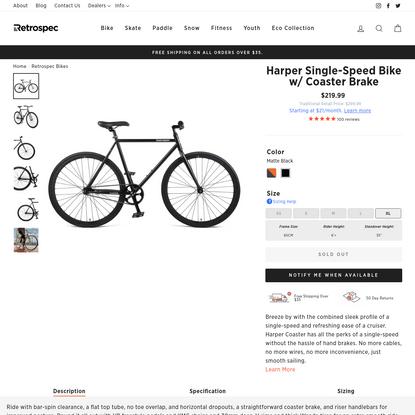 Harper Single-Speed Bike w/ Coaster Brake