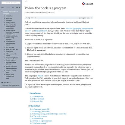 Pollen: the book is a program
