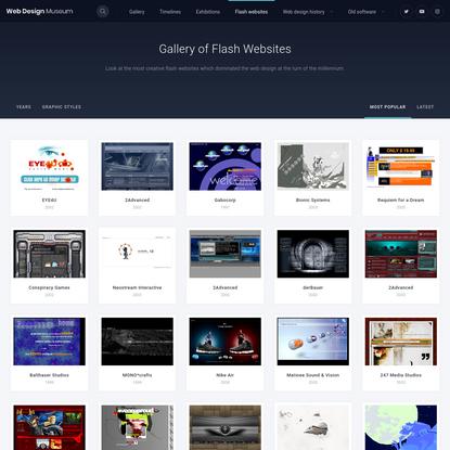 Flash Websites   Web Design Museum