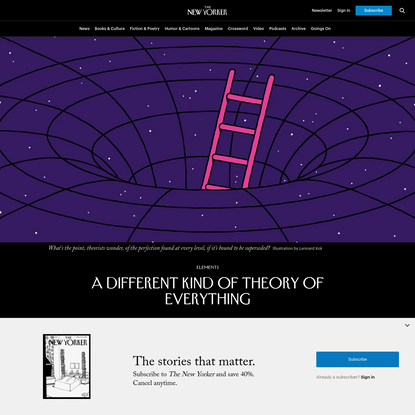 A Different Kind of Theory of Everything
