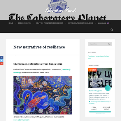 New narratives of resilience - Laboratory Planet