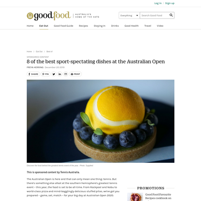 8 of the best sport-spectating dishes at the Australian Open