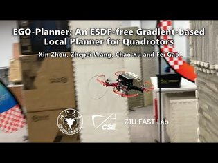 EGO-Planner: An ESDF-free Gradient-based Local Planner for Quadrotors