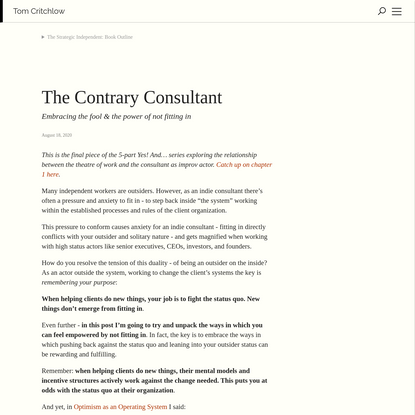 The Contrary Consultant