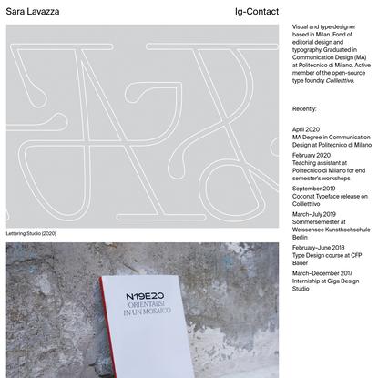 Sara Lavazza - visual designer