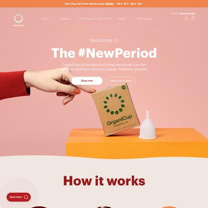 OrganiCup Menstrual Cup: Easier, Healthier, Greener Periods