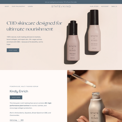 State of Kind - 100% natural, high-performance CBD skincare