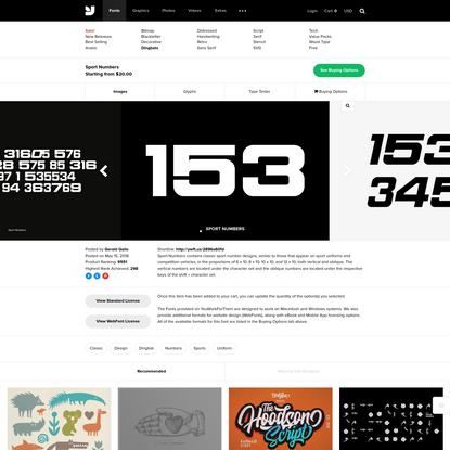 Sport Numbers - Desktop Font & WebFont - YouWorkForThem