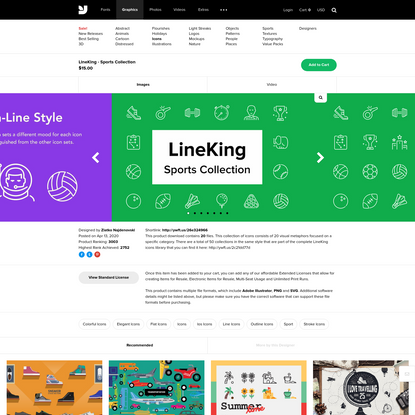 LineKing - Sports Collection - Graphics - YouWorkForThem