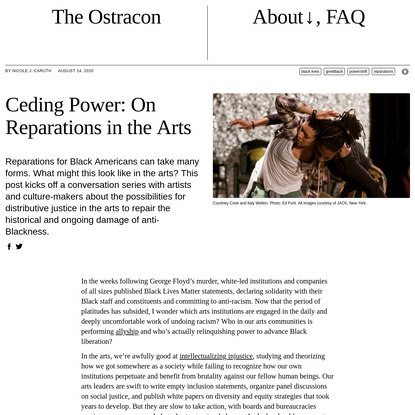 Ceding Power: On Reparations in the Arts