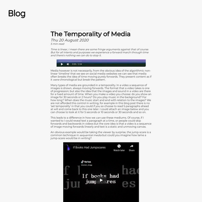 The Temporality of Media