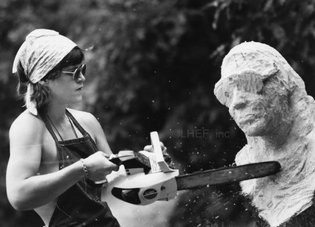 making a Sculpture - From the Lesbian Herstory Archives