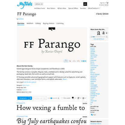 "FF Parango™ - Webfont & Desktop font "" MyFonts"