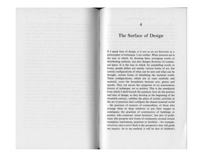 Ranciere – Surface of Design