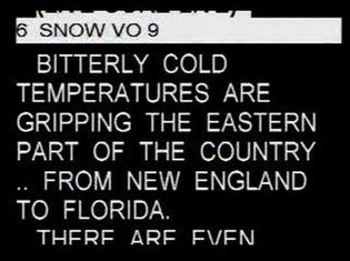 NBC TODAY SHOW TELEPROMPTER 1/3/2008