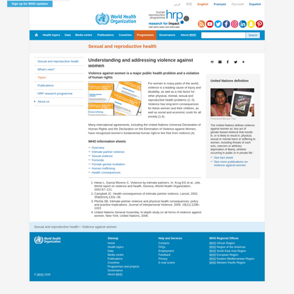 Understanding and addressing violence against women