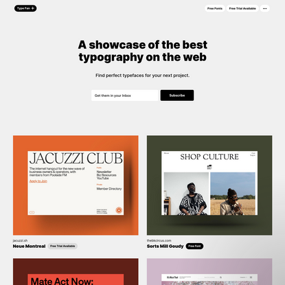Type Fan - Showcasing the best typography on the web