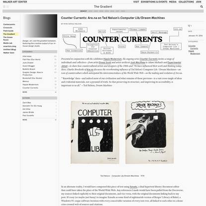 Counter Currents: Are.na on Ted Nelson's Computer Lib/Dream Machines
