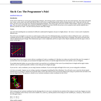 Sin & Cos: The Programmer's Pals!