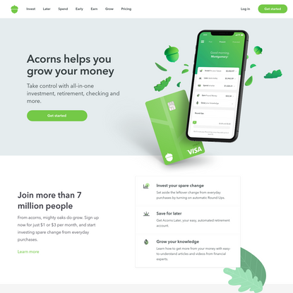 Acorns - Invest, Earn, Grow, Spend, Later