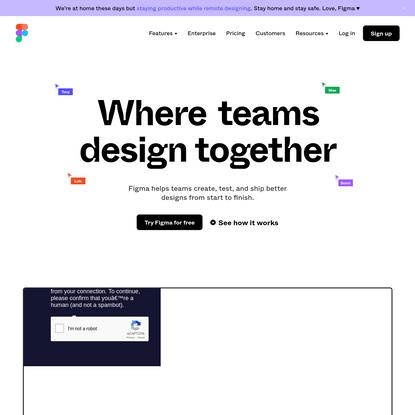 Figma: the collaborative interface design tool.