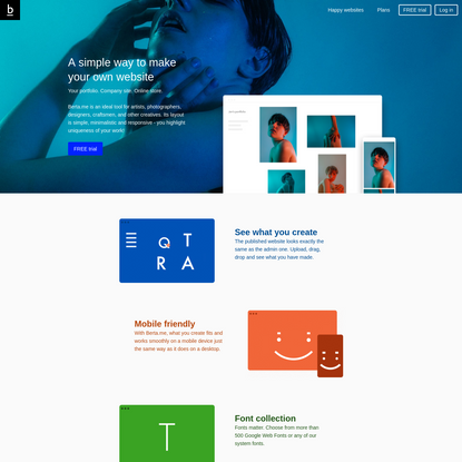Berta.me - Make your website | Classy and mobile-friendly themes