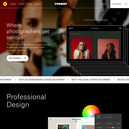 Create your own professional photography website
