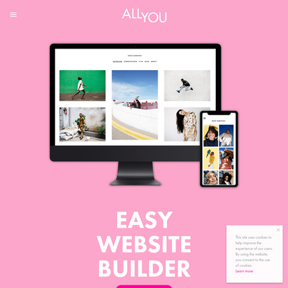 ALLYOU - Online portfolio website builder