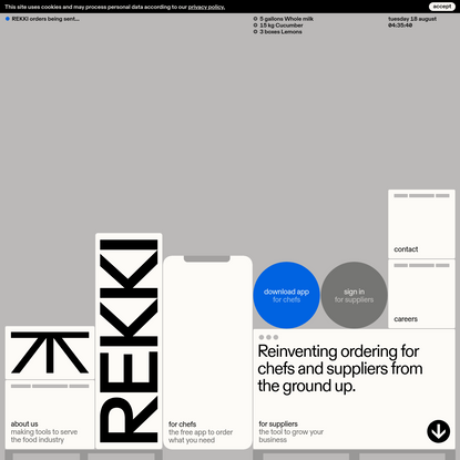 REKKI - Reinventing Ordering for Chefs and Suppliers