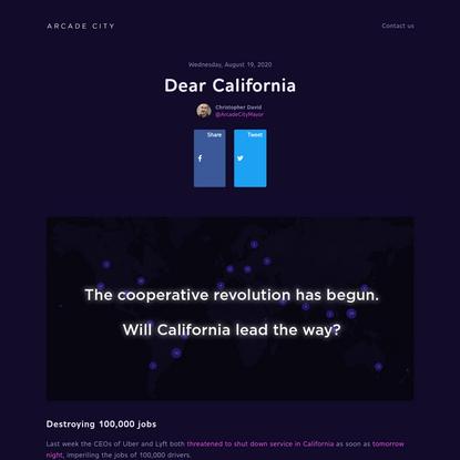 Dear California – Arcade City