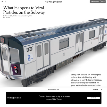 What Happens to Viral Particles on the Subway - The New York Times