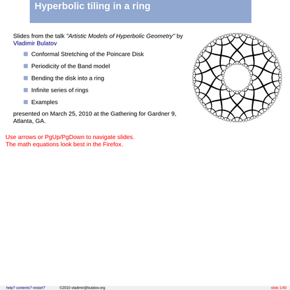Hyperbolic tiling in a Ring