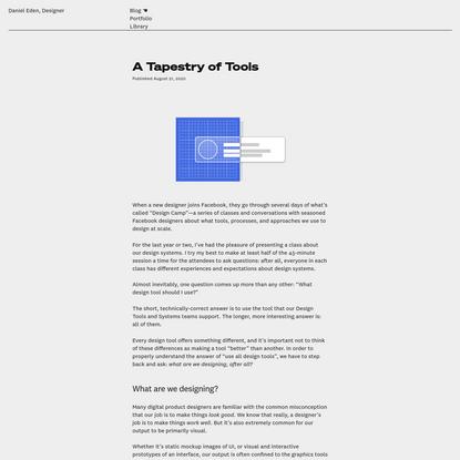 A Tapestry of Tools | Daniel Eden, Designer