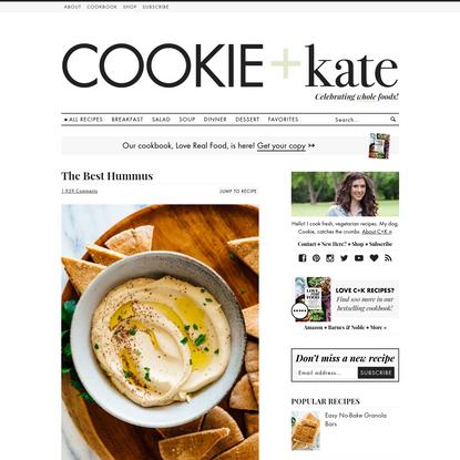 Best Hummus Recipe (Plus Tips & Variations) - Cookie and Kate