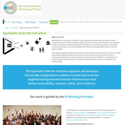 Equitable Internet Initiative