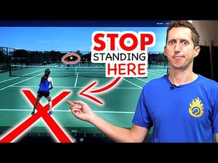 Stop Standing HERE In Tennis! (why you're losing)