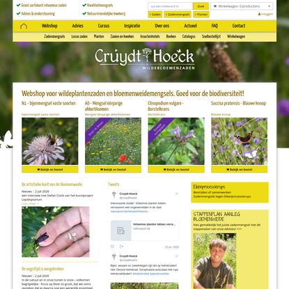 Cruydt-Hoeck Wildeplantenzaden & Bloemenweidemengsels