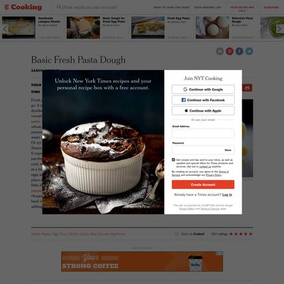 Basic Fresh Pasta Dough Recipe