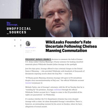 WikiLeaks Founder's Fate Uncertain Following Chelsea Manning Commutation