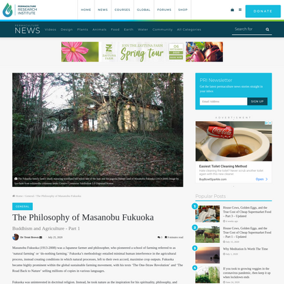 The Philosophy of Masanobu Fukuoka - The Permaculture Research Institute